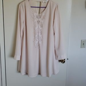 Cream  long sleeved dress